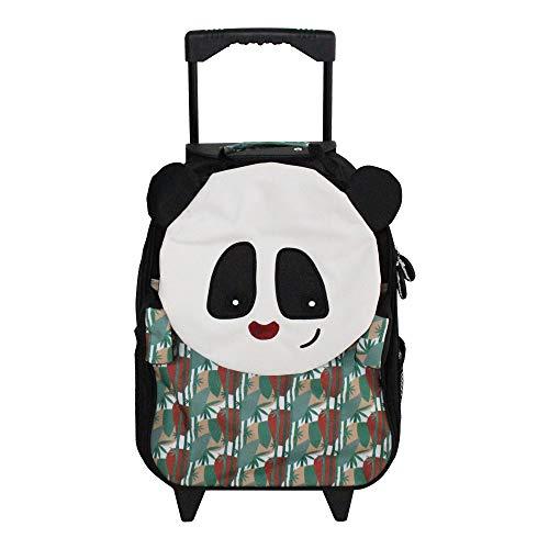 LES DEGLINGOS Valise Trolley Rototos le Panda Maleta 47 Centimeters 25 Multicolor (Noir Et Blanc)