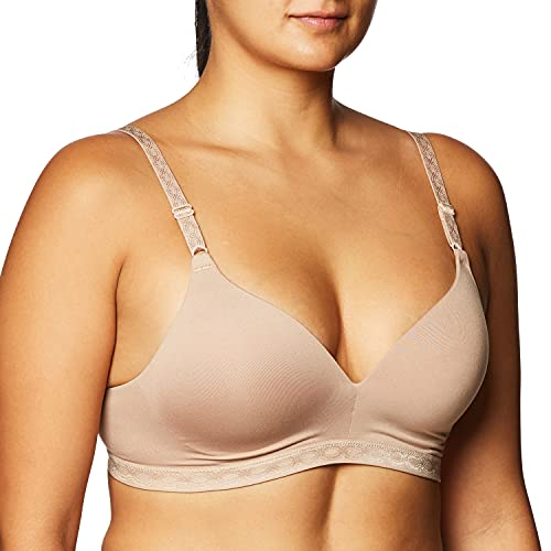 Warner's womens Blissful Benefits Ultrasoft Wirefree T Shirt Bra, Toasted Almond, 38C US