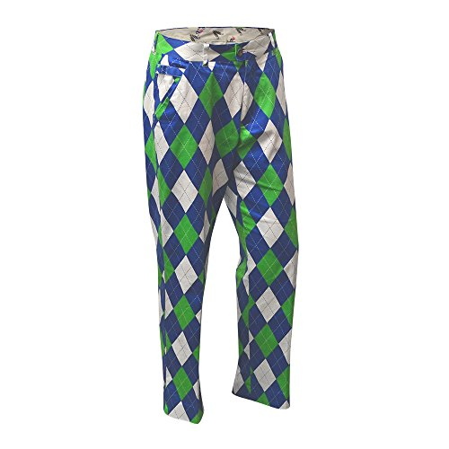 ROYAL & AWESOME HERREN-GOLFHOSE, Mehrfarbig (Blues on the Green), W34/L34