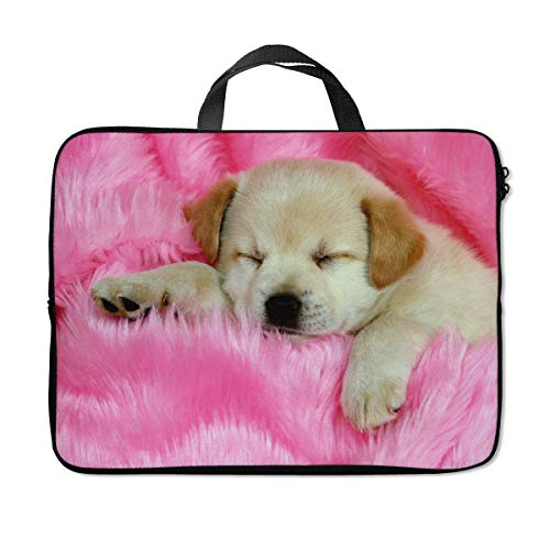 Britimes Laptop Protection Bag Waterproof Neoprene PC Cover Water Resistant Notebook Case Handle Carrying Computer Protector Cute Dog 14 15 15.6 inches