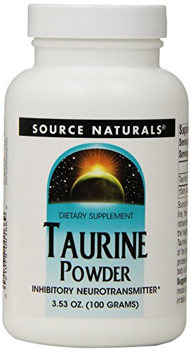 Source Naturals Taurine Powder, Calming Neurotransmitter, 100 Grams (Pack of 3)