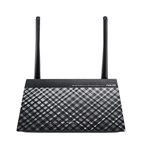 Asus DSL-N16 Modem Router Wireless VDSL/ADSL 300 Mbps, 4 Porte Ethernet Fast, 1 Porta WAN Nero 19 x 23.5 x 3.5 cm