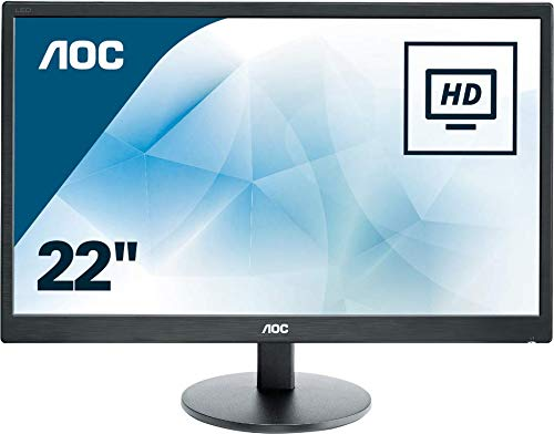 AOC E2270SWHN 21.5' LED FHD (1920x1080) 5ms monitor. (VGA, HDMI) - Black