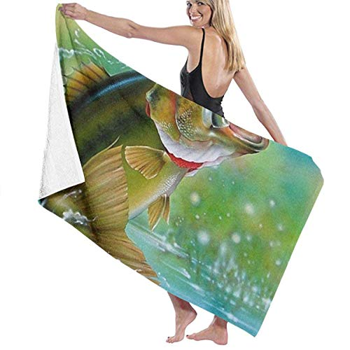ZYWL Jxrodekz Quick Dry Beach Towel Cow Face Funny Beach Towel Soft and Comfortable and Extremely Absorbent for Swimmers,Bath Towels for Kids & Adults, Pool, Water Sports