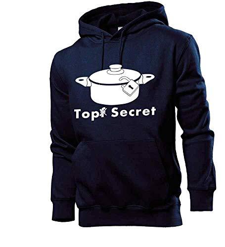 Generisch Pote Secret Hombre Sudadera con Capucha Sudadera - shirt84 - Azul Marino, M
