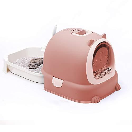 BZZBZZ Schubladentyp Katzentoilette, vollständig geschlossene Katzentoilette Katzentoilette, Anti-Spritzer und Geruch im Cartoon-Großraum mit Katzentoiletten