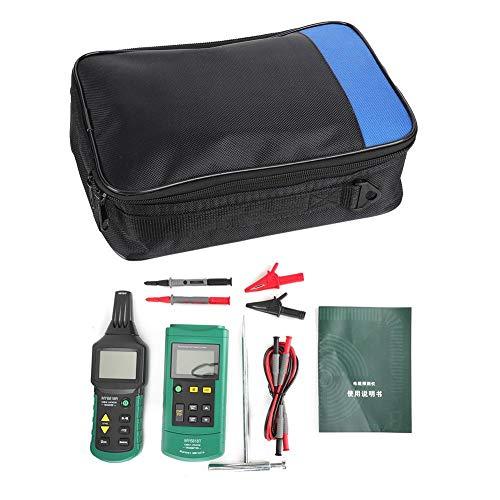 Probador de cables, teléfono de red ajustable Rastreador de cables de mano Detector de comprobación de cables Dispositivo de seguimiento del medidor con función de silencio de autocomprobación