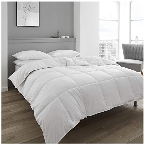 GAVENO CAVAILIA Super Soft Hotel Quality Feather & Down Duvet, Extra Warm Deluxe Quilt 13.5 TOG, Anti-Dustmite Warm & Cosy, Kingsize, 85% Feather 15% Down, Duck-White, King