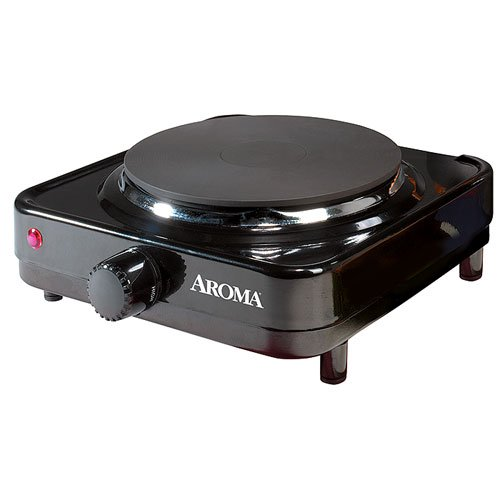 Aroma Durable Die-Cast Flat Single-Burner Portable Electric Range Hot Plate