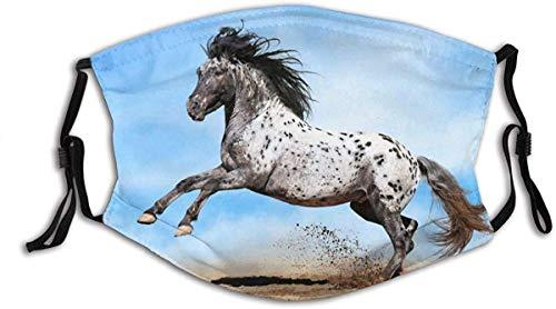 YTYTY Running Spotted Horse Animales en Sunny Sky Adulto turbante cara cuello polainas pasamontañas, senderismo, ciclismo, escalada en roca