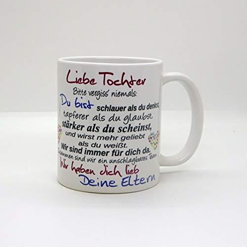 Kaffeebecher ~ Tasse - Liebe Tochter ~ Deine Eltern ~ Weihnachten Geschenk