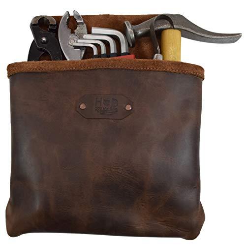 Hide & Drink Werkzeuggürteltasche aus Leder, für Konstruktor/Elektriker/Klempner, handgefertigt, Bourbon Brown