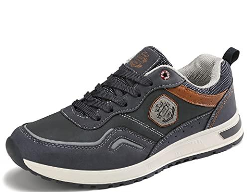 ARRIGO BELLO Zapatos Hombre Vestir Casual Zapatillas Deportivas Transpirables Gimnasio Correr Running Al Aire Libre Sneakers Tamaño 41-46(Jun Azul, Numeric_43)