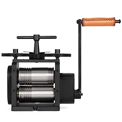 VEVOR Máquina de Laminación de Combinación Manual 130x65 mm Equipo de Procesamiento de Tabletas de Joyería Máquina de Fabricación de Joyería Laminador de Combinación