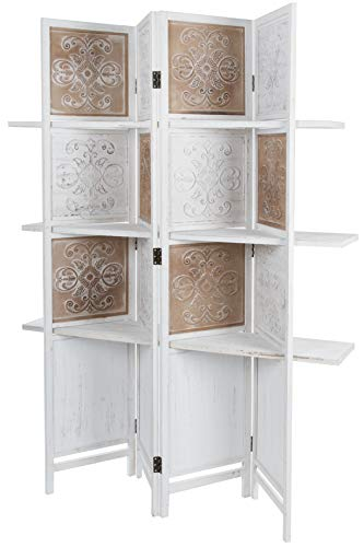 elbmöbel Sirve Estantería biombos paraviento Shabby estantes separador 181x 155x 2