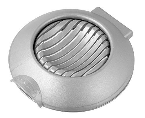 Fackelmann Mozzarella-/Eischneider, Eierteiler, Küchenhelfer für das Schneiden gleichmäßiger Scheiben (Farbe: Silber), Menge: 1 Stück