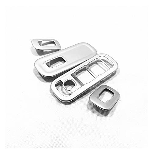 Accesorios de Interior ABS para M&ercedes para B&ENZ A Class 2019 Puerta Ventana Vidrio Interruptor De Control De Elevación Panel Cubierta De Marco Embellecedor