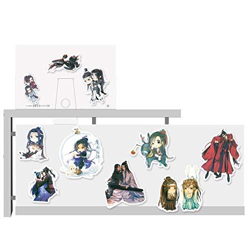 54 piezas de dibujos animados Xiao Zhan Wang Yibo Mobile Water Cup Notebook impermeable decorativo etiqueta engomada paquete