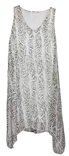 BZNA Zipfel zomerjurk tuniek wit slangenpatroon reptielpatroon zijden jurk bozana zomer herfst zijdejurk dames jurk elegant