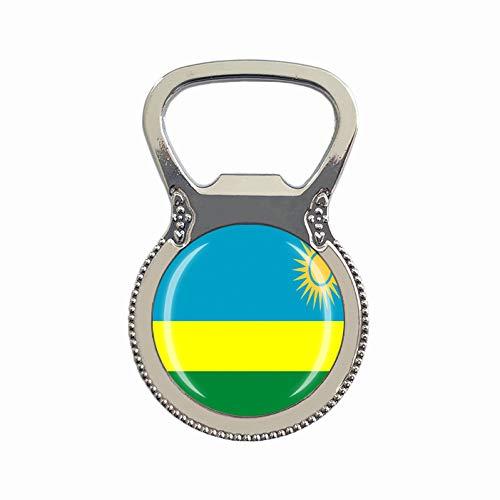 Flaschenöffner mit Ruanda Flagge, Kühlschrankmagnet, Metall, Glas, Kristall, Reise, Souvenir, Geschenk, Heimdekoration