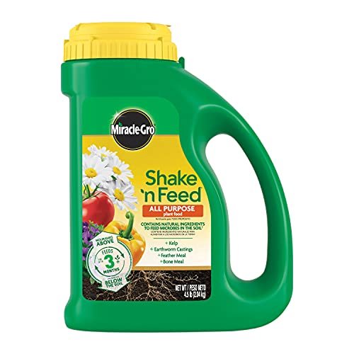 Miracle-Gro Shake 'N Feed All Purpose Plant Food, Plant Fertilizer, 4.5 lbs.