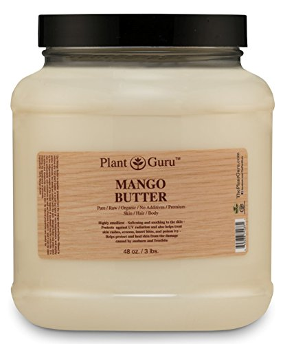 Raw Mango Butter 3 lb. Bulk 100% Pure Natural Cold Pressed. Skin Body and Hair Moisturizer, DIY Creams, Balms, Lotions, Soaps.