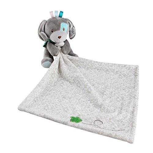 Doudou Manta Bebé Juguete de Peluche Juguete de Bebe Manta Reconfortante Suave Doudou con Muñeca Perrito, Regalo para Bebés