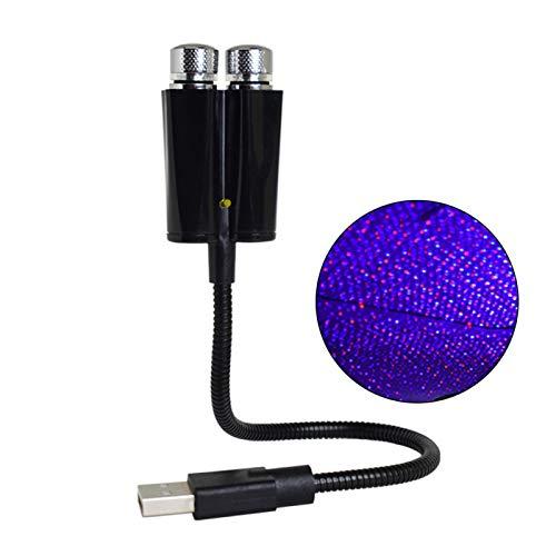 MOVKZACV USB Nachtlicht Stern Projektor Auto Deckenleuchte Tragbare Romantische Licht 2 in 1 Atmosphäre Romantische LED Lampe für Auto Party