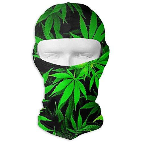 Cool Green Amazing Weed Leaves Balaclava Full Motorcycle Helmet Liner Respirant Outdoor Sports Wind Wind Proof Dust Head Hood