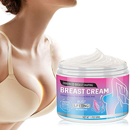 Breast Enhancement Cream, Natural Breast Enlargement Firming and Lifting Cream with Papaya Extract Nourishing for Push Up Bust with Perfect Body Curve for All Skin Types