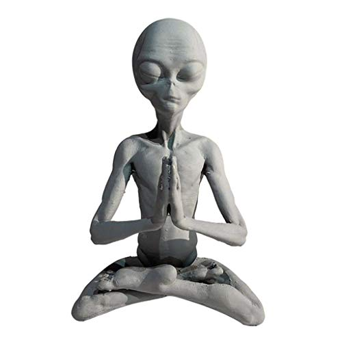 H HILABEE Alien Figur Harz Ornament Gartendeko Figuren für Außen Groß