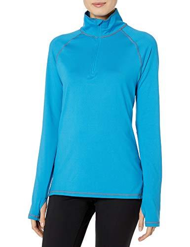 Hanes Women's Sport Performance Fleece Quarter Zip Pullover, Underwater Blue, 2XL