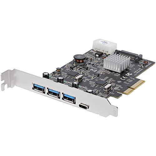 StarTech.com Tarjeta PCI Express USB 3.1 de 10 Gbps de 4 Puertos con 2 Canales Dedicados – 3X USB-A y 1x…
