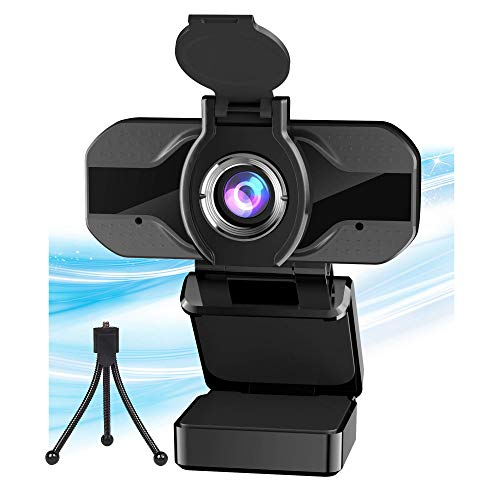 PIPHU Webcam 1080P Cámara Web HD Webcam Streaming Webcam con micrófono Cámara Web Gran Angular Cámara Web USB Cámara Ordenador para Twitch, Xbox, Youtube, Zoom, Mac, Macbook, Monitor, Gaming