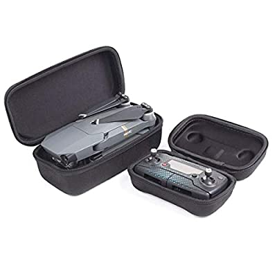 Flycoo Pack of 2 Cases : Case for DJI Mavic Pro Drone Body and Remote Controller - Semi-hard Portable Storage Carrying box Transport Protection Bags