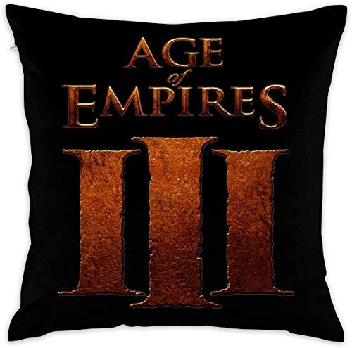 Funda de Almohada de Microfibra Ultra Suave Age of Empires Funda de cojín Decorativa Fundas de Almohada Fundas de Almohada 18x18 in