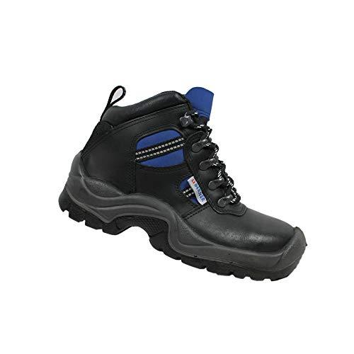 Berner Sport S3 Sicherheitsschuhe Arbeitsschuhe Berufsschuhe Businessschuhe Trekkingschuhe Schwarz, Größe:40 EU