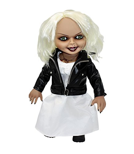 Close Up Bride of Chucky Puppe Talking Tiffany (H: 38cm), aus Kunststoff mit Soundchip