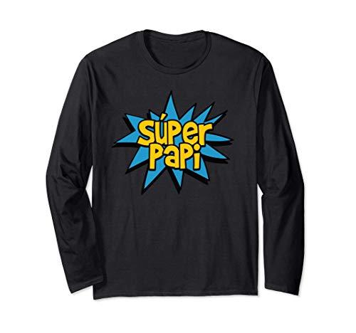 Super Papi Comic Book Superhero Spanish Dad / Father Graphic Manga Larga