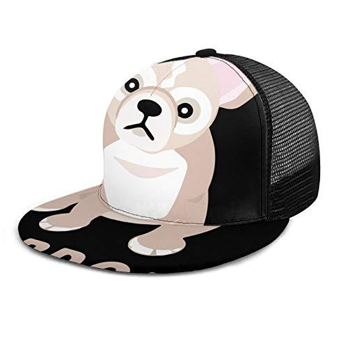 Shimin Pardon My Frenchie Mesh Cap, Adjustable Polo Style Baseball Cap for Men & Women