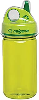 Nalgene Grip-N-Gulp Bottle with Cover, Green, 12 oz