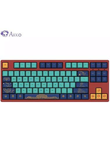 AKKO 3108 V2 World Tour – Beijing 108/87 Keys Cherry Switch USB 2.0 Type-C Wired Mechanical Gaming Keyboard (87 Key, Red Switch)