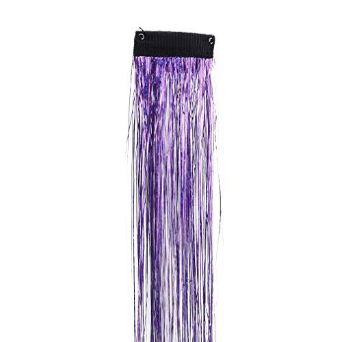 L_shop Partie Artificielle Extension de Cheveux Droite Mettre en évidence des postiches Cospaly Mode Princesse Amusant Bricolage Salon Accessoires de Cheveux, Violet