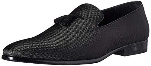 STACY ADAMS Men's Tazewell Tassel Slip-On Loafer, Black, 8 M US