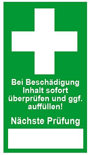 Siegel für Betriebsverbandkasten, Erste Hilfe Koffer - Dokumentenfolie - Fälschungssicher 24 Stück
