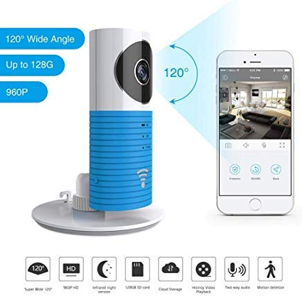 WiFi Doggie Cam Monitor, TOLEGEND 2nd Generation 120 ° Wide Angle Wireless Security WiFi Camera Support Android iOS APP Remote Control