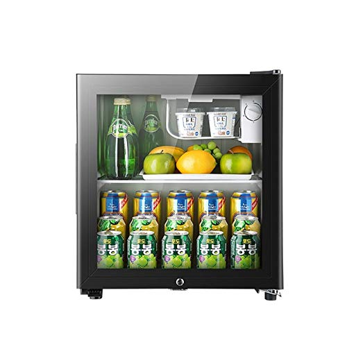 50L Mini Fridge Black 50L Beer, Wine & Drinks Fridge with LED Light + Lock & Key, Low Energy A+ (Black), Quiet energy efficient and great for fitted kitchens.