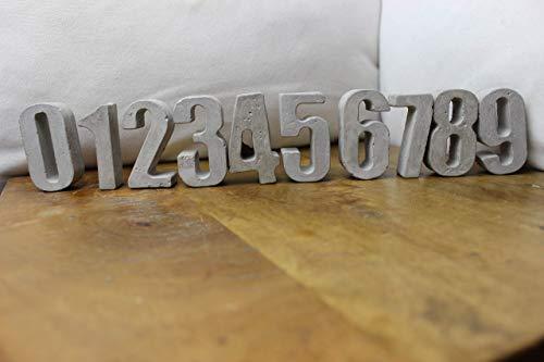 Betonzahlen, Zahlen aus Beton 0-9