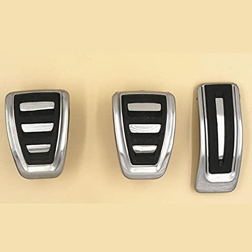 Interiores automóvil Pedal de reposapiés de freno de combustible deportivo AT/MT FIT FOR Audi A4 B8 A4L S4 RS4 A5 S5 RS5 A6 A7 S7 A8 Q5 SQ5 Q7 Q3 A3 (Color Name : MT)