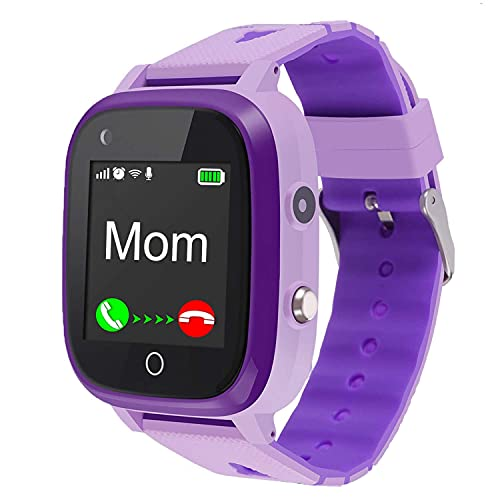 4G Kids Smart Watch,Kids Phone Smartwatch w GPS Tracker,Call,Alarm,Pedometer,Camera,SOS,Touch Screen WiFi Bluetooth Wrist Watch Boys Girls iPhone iOS Android,3-12 Years Old Children Student Gifts